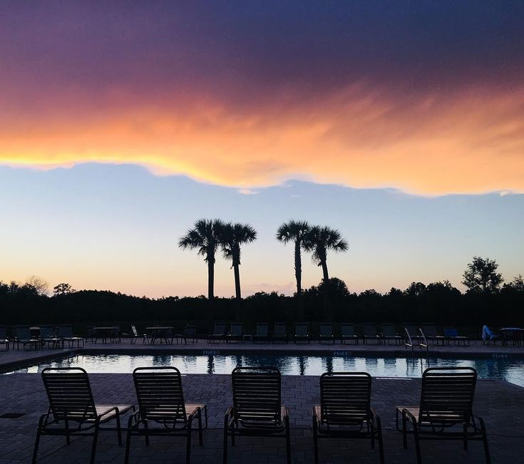Sunset at Avalon Park West in Wesley Chapel, FL