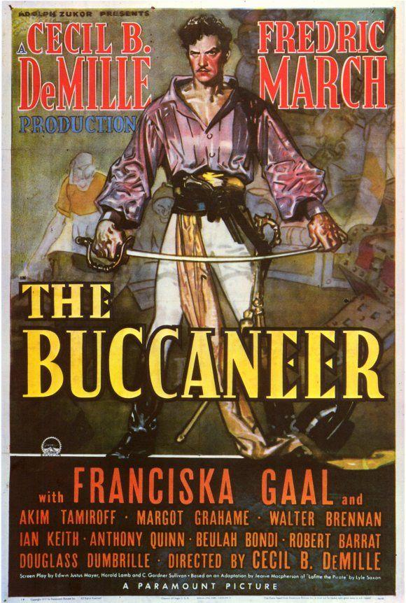 "Anthony Quinn ""The Buccaneer"" 1938.. Adventure film"
