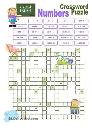 This ws offers a possibility for new students of English to practise spelling of numbers. - ESL worksheets