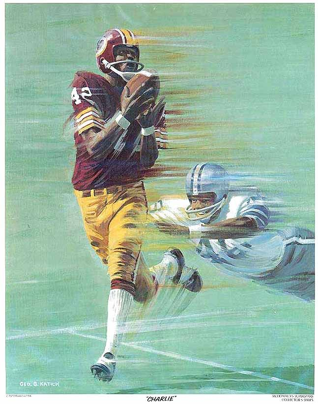 "Charley Taylor, McDonalds 11""x14"" Redskins Poster art by George G. Katich, 1973."