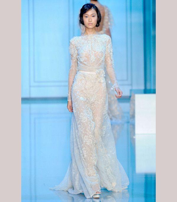Deep blush Elie Saab bridesmaid dress