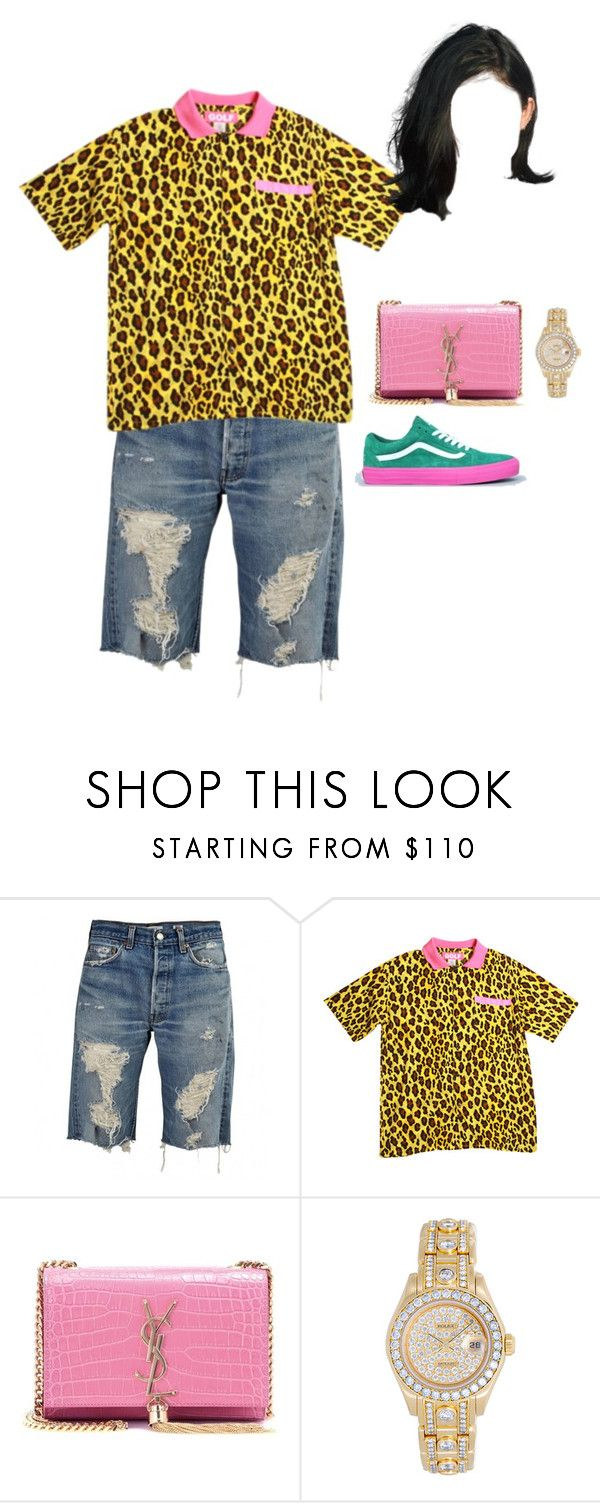"""""""On Tyler the creators cooking show"""" by nytown ❤ liked on Polyvore featuring Yves Saint Laurent and Rolex"""