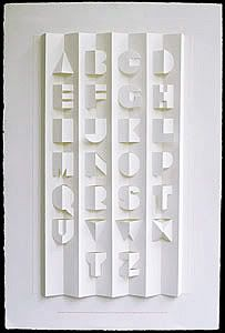 Letras de papel plegado y recortado   Tipografía   Domestika