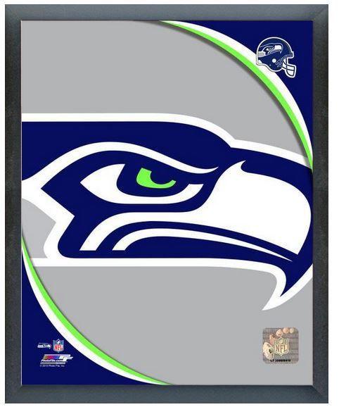 "2013 Seattle Seahawks Team Logo - 11"" x 14"" Photo in a Glassless Sports Frame"