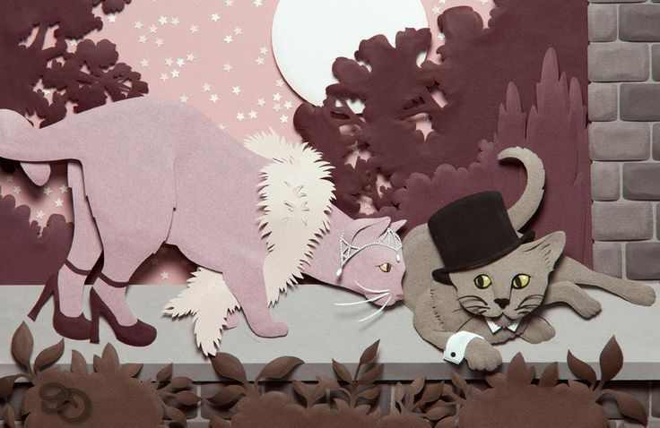 The Great Catsby  Paper Sculpture  (c) Denise Ortakales