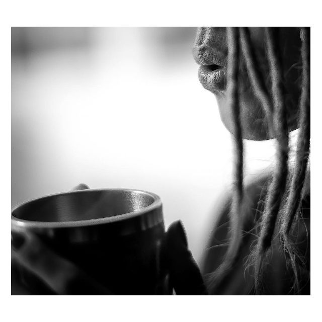 Hot Coffee Sexy Lips Surfgirl Girl Power Dreadlocks Stay Golden Blackandwhite BW Latte Espresso Dream Daydreaming