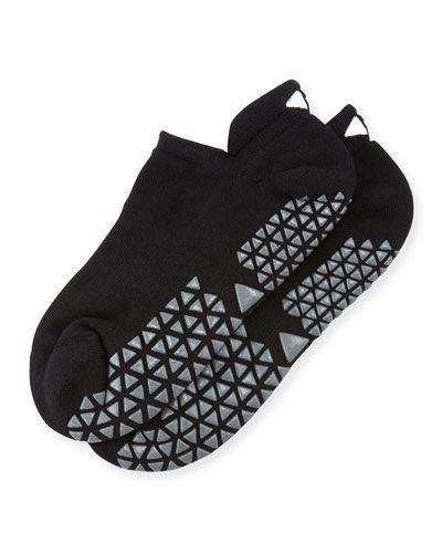 Savvy Slipper Grip Socks, Ebony