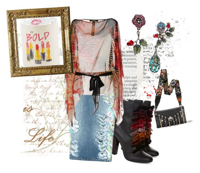 """""""Be bold"""" by deetscollage on Polyvore featuring Marco de Vincenzo, Valentino, Sonia Rykiel, Tri-coastal Design, Betsey Johnson, MARCOBOLOGNA and Roberto Cavalli"""