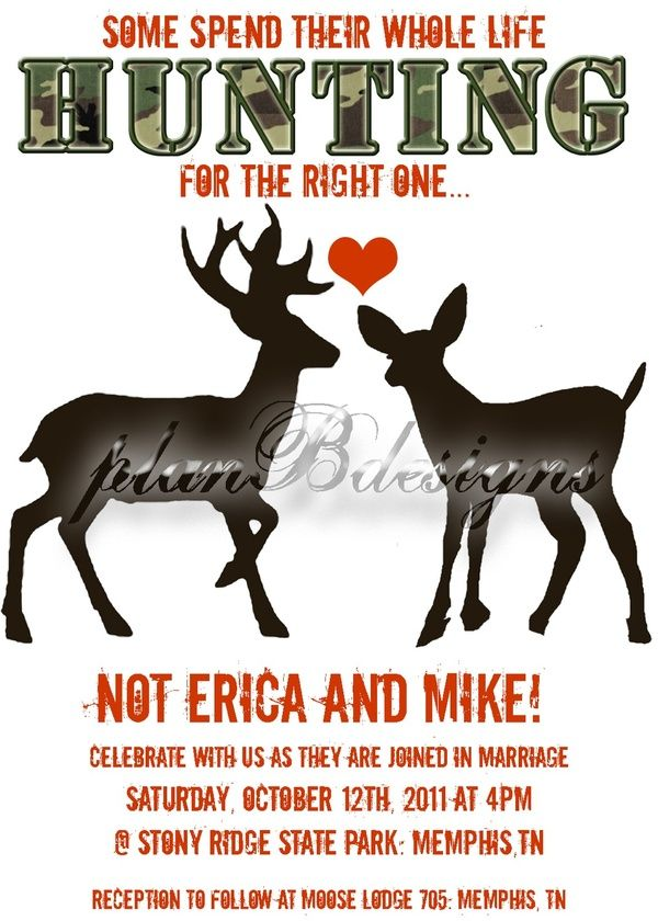 Camo Wedding Invite I Think I Am Going To Start A Board That Is JUST Camo. Redneck  Wedding InvitationsWedding ...
