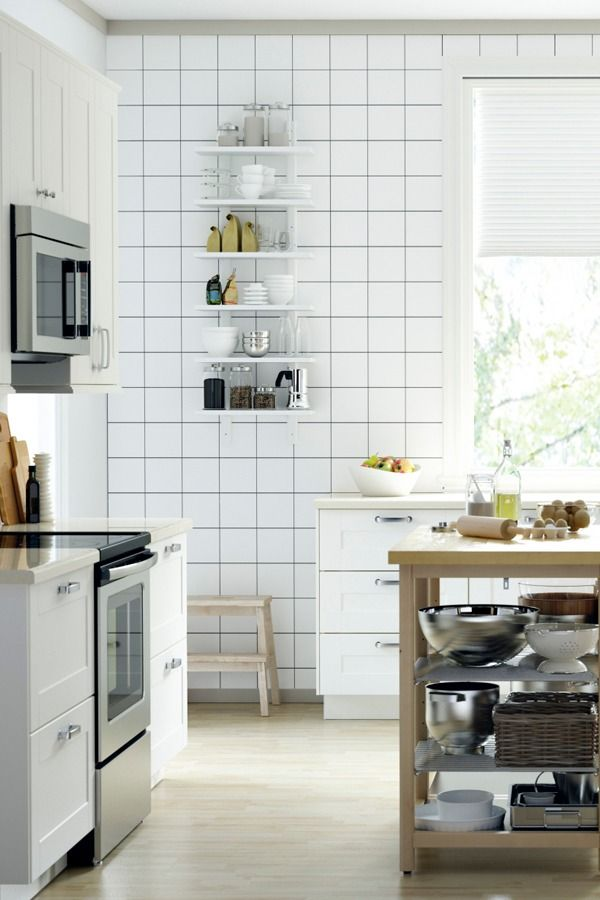 A Free Standing Kitchen Island Gives You Extra Work And Storage Space When Counter Space Is In High Demand Find Ikea Sektion Kitchen Inspiration To Get