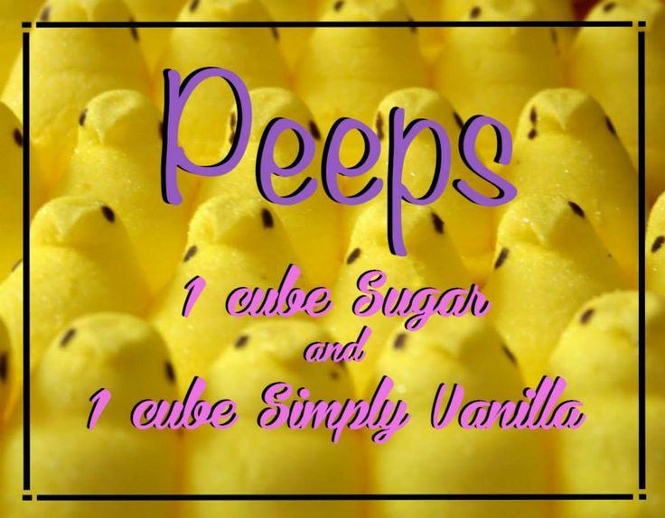 Sugar + Simply Vanilla = Peeps #Scentsy Recipe #addictedtoScentsy https://aleesullivan.scentsy.us