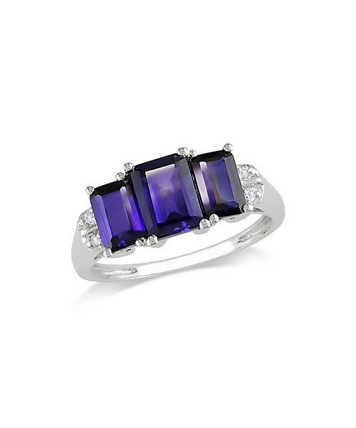 Take a look at this Sapphire & Diamond Triple Stone Ring on zulily today!
