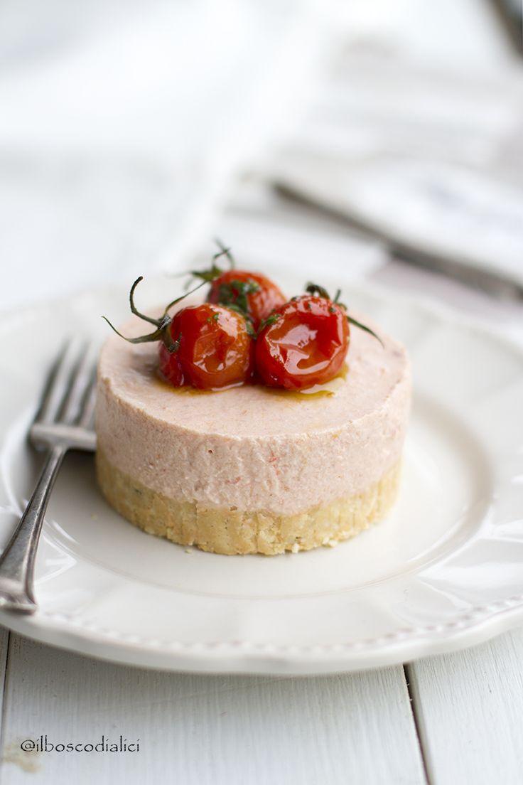il bosco di alici: Cheesecake salata di pappa al pomodoro con pomodor...
