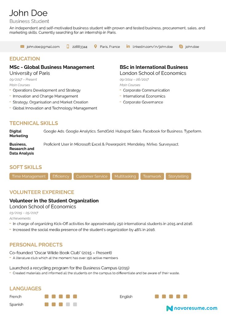 How to make a resume with noexperience 21 examples