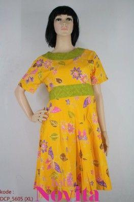 <p>Bahan katun<br />Resleting belakang<br />Kombinasi embos dan batik<br /><br />Size : XL<br />Lingkar dada: 86 cm<br />Lingkar pinggang: 96 cm<br />Panjang baju : 93 cm<br />Panjang lengan : 20 cm</p>