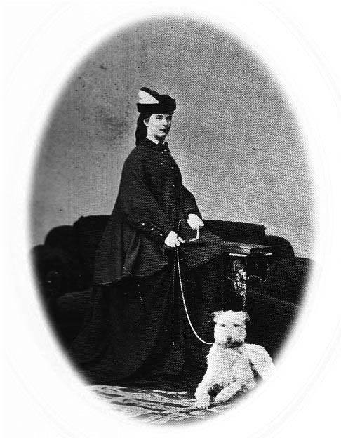 Elisabeth met haar hond Shadow