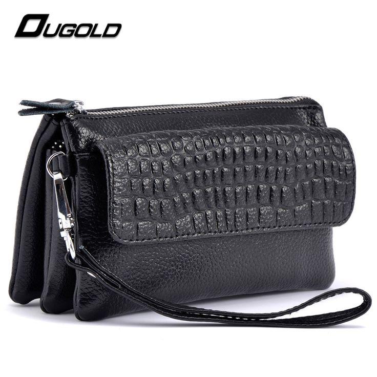ougold 2016 새로운 디자이너 여성 지갑 진짜 가죽 지갑 여성 화장품 가방 여성 휴대 전화 지퍼 카드 소지자 지갑