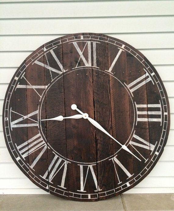 Farmhouse Style Wooden Pallet Quot Joann Quot Clock 20 24 30 Or