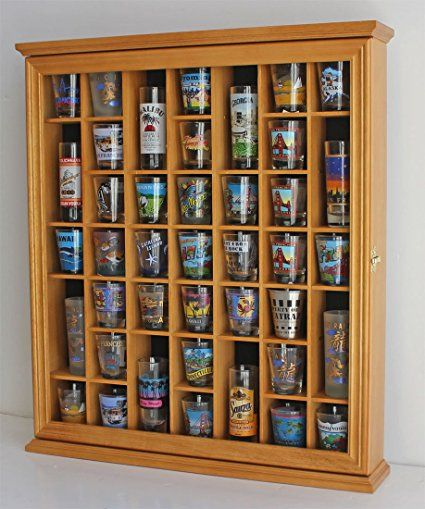 41 Shot Gl Display Case Cabinet Holder With Door Wall Mountable Review