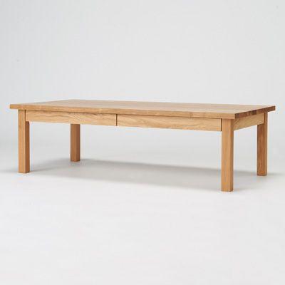 【店舗限定】無垢材ローテーブル・オーク材・120×60cm 幅120×奥行60×高さ35cm | 無印良品ネットストア