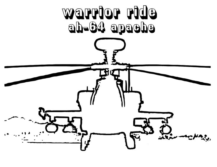 Helicopters Warrior Ride Coloring Pages For Kids Printable
