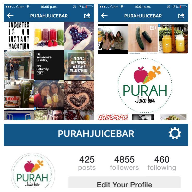 Siganos en nuestro instagram Purahjuicebar para que tengan mas informacion sobre nosotros!