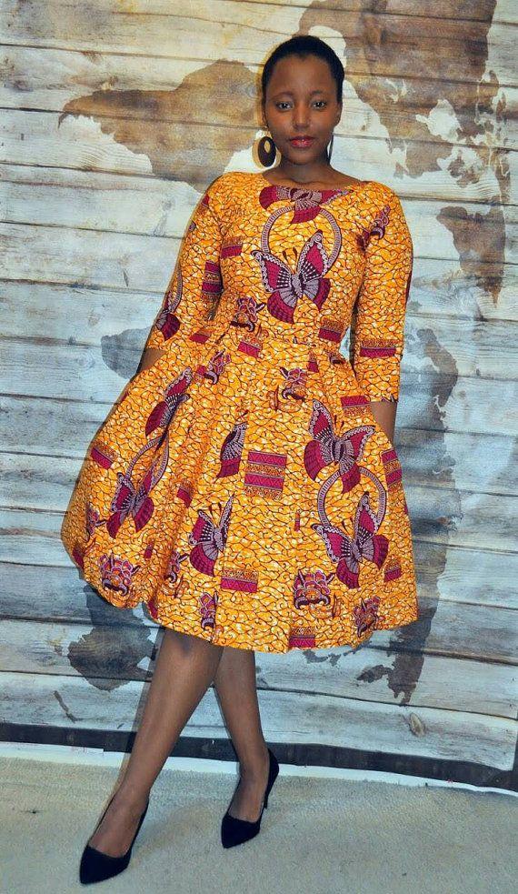 New listing Yurizaa African print dress