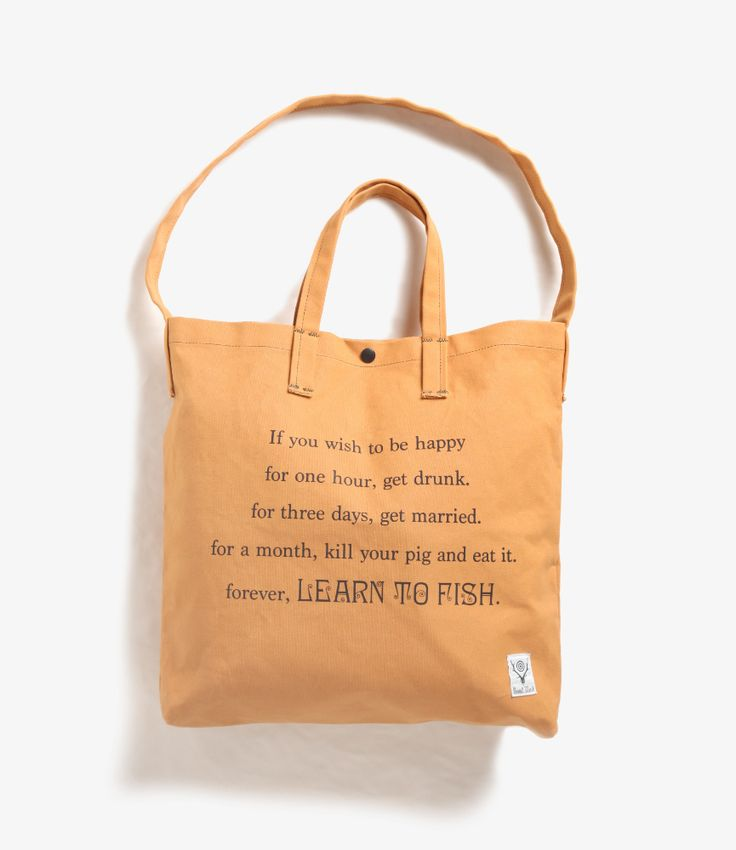 Nepenthes online store | South 2 West 8 Grocery Bag - Learn to Fish / Fishing Life