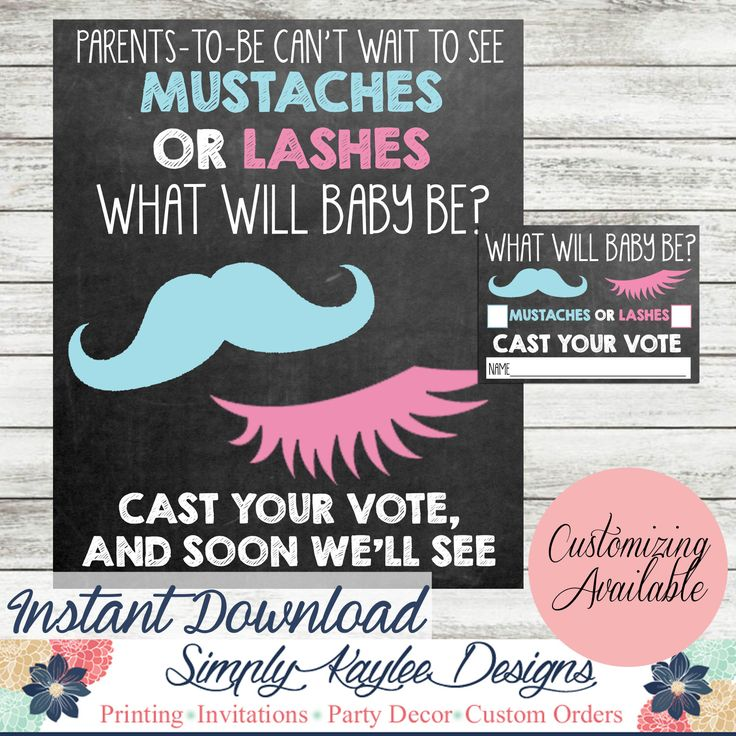 20 best Mustaches or Lashes Gender Reveal Party Ideas images on ...