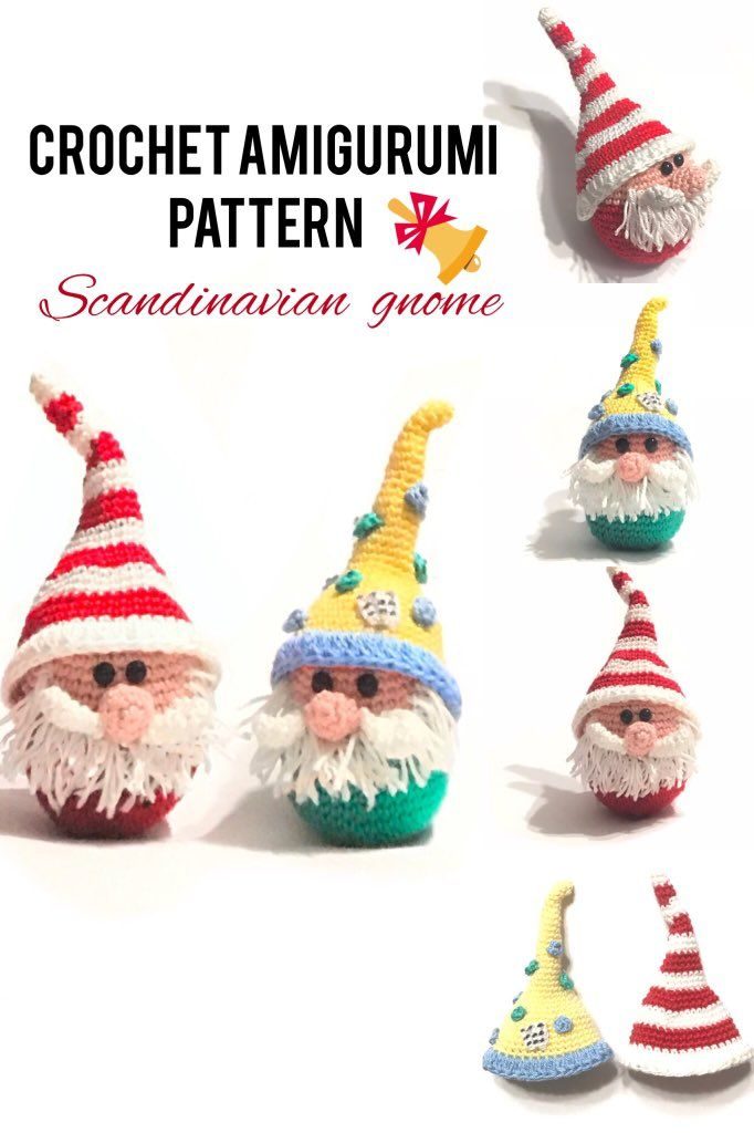 Crochet Pattern Christmas 2020 Scandinavian Gnome Ornament in 2020 | Christmas crochet, Crochet