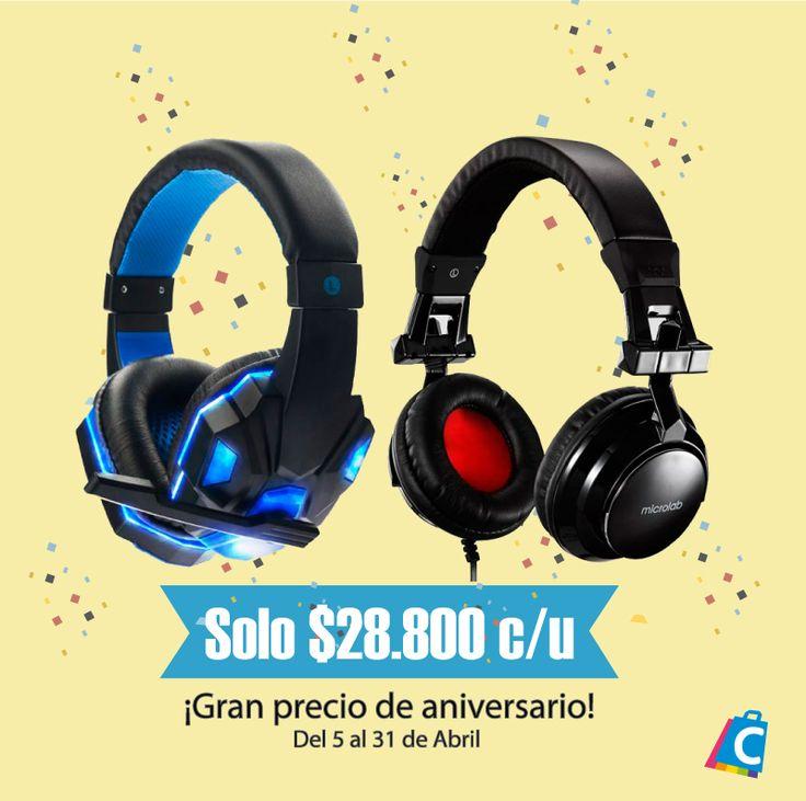 Grandes descuentos y precios muy pequeños. #Aniversario #Promociones #Descuentos #Audifonos #Gamers #Geek