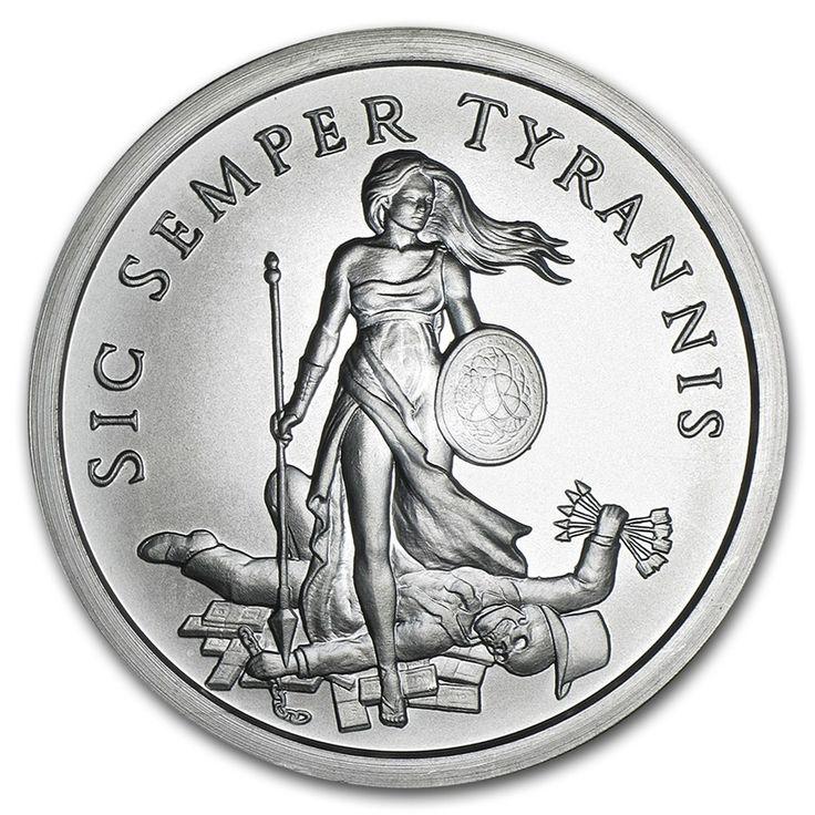 2015 2 oz Silver Round Sic Semper Tyrannis