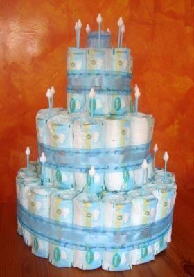 Baby Shower: diy diaper cake boy style