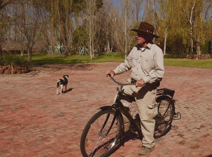 Gary Player dog and bicycle