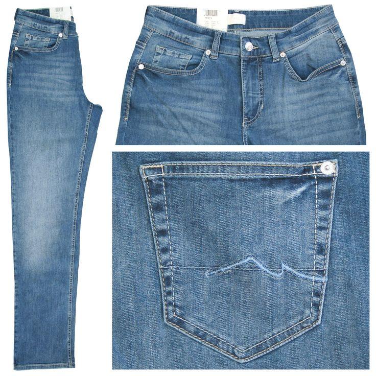 MAC Stretch Damen Jeans / Form: Melanie / Farbe: mittelblau - FarbNr.: D823 / im MAC Jeans Online Shop