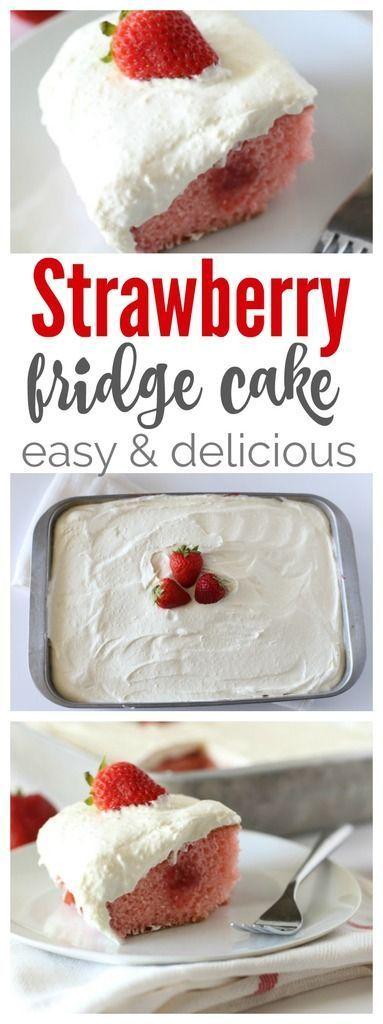 Strawberry Fridge Cake