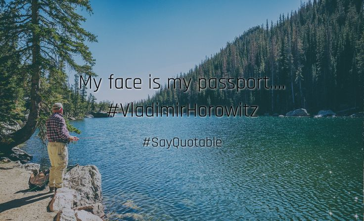 Quotes about My face is my passport.... #VladimirHorowitz   with images background, share as cover photos, profile pictures on WhatsApp, Facebook and Instagram or HD wallpaper - Best quotes