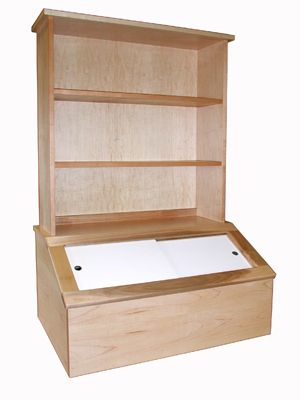 Toy Chest Toy Box Book Shelf Wooden Maple - Ideal for keeping dual purpose areas neat and tidy.