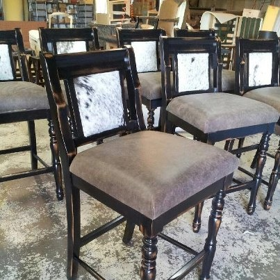 Barstools For Island Pic From Cowhide Western Furniture