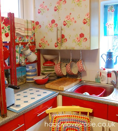 New Look Vintage Kitchen ... Done! | HAPPY LOVES ROSIE
