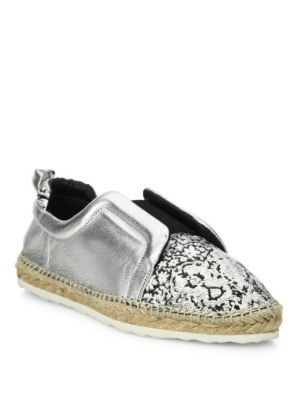 PIERRE HARDY Sliderdrille Metallic Leather Skate Sneakers. #pierrehardy #shoes #sneakers
