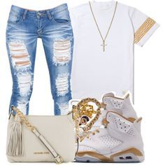~ White and Gold ~, Love the Jeans