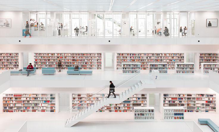 Stuttgart City Library #Architecture #Photography #Interior #Design by Hans-Martin Dölz (Germany)