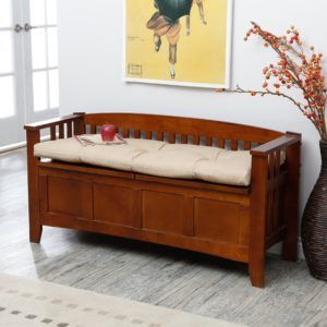 Storage Bench With Back Cushion