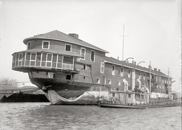 1916 U.S.S. Franklin, used as training ship. Admiral