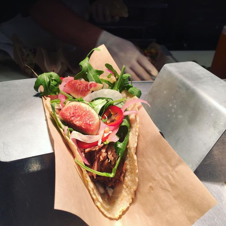 """25 Likes, 3 Comments - Velvet Taco Fort Worth (@velvettacofortworth) on Instagram: """"Here's a picture of this week's #wtf the pork and fig!!! It's a pork taco that sits on a fig salad…"""""""