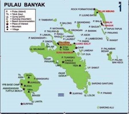 Peta pulau banyak.