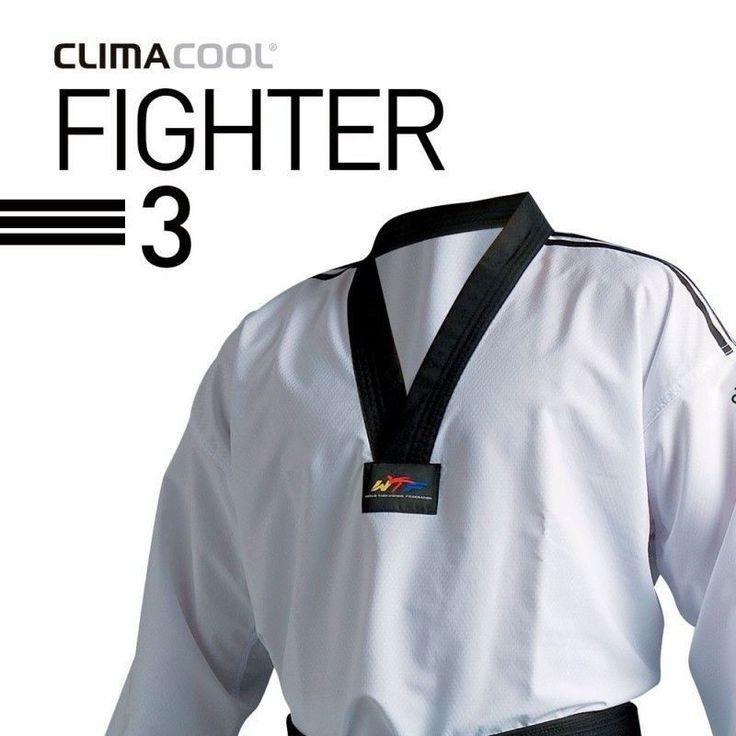 **Dobok Taekwondo ADIDAS para Competición FIGHTER 3 - €126.40   http://soloartesmarciales.com    #ArtesMarciales #Taekwondo #Karate #Judo #Hapkido #jiujitsu #BJJ #Boxeo #Aikido #Sambo #MMA #Ninjutsu #Protec #Adidas #Daedo #Mizuno #Rudeboys #KrAvMaga
