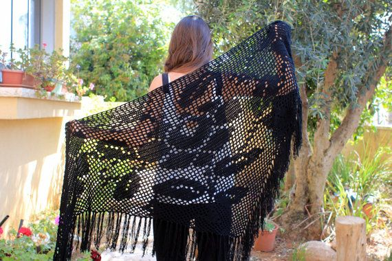 A Handmade Evening Wrap.. https://www.etsy.com/listing/219934002/black-shawl-shawl-wrap-lace-evening-wrap
