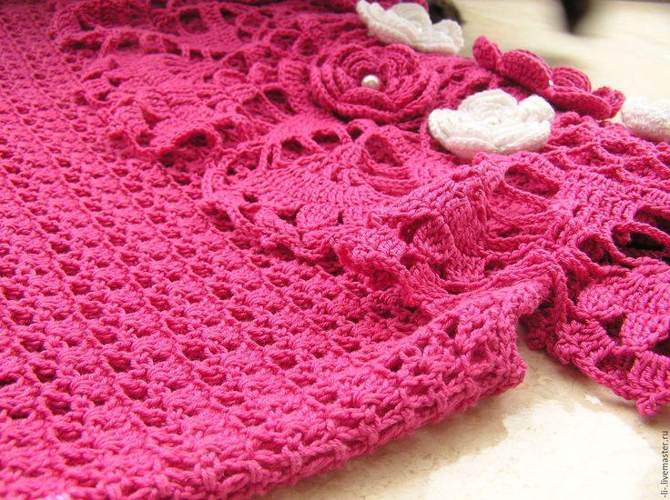Купить Вязаное крючком платье Розовый топаз - платье летнее, платье вязаное, платье на заказ